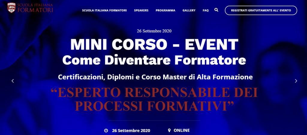 """Immagine Webinar gratuito """"Come Diventare Formatore"""""""